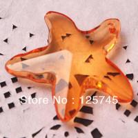 Free shipping!38MM Orange Acrylic Starfish Pendant 80pcs/lot