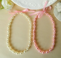 Wholesale hot new necklace bracelet jelly   baby infant and children's jewelry set  acrylic pearl pink blue white