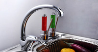 Hot Sale Brass Chrome Single Handle Single Hole Kitchen Sink Water Tap Hot & Cold Faucet Mixer