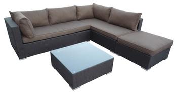Brief modern rattan outdoor garden furniture 4 set