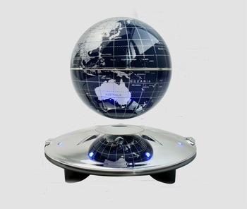 Magnetic Levitation antigravity Floating Black 4 inch Globe World Map with LED Light Home office Decoration