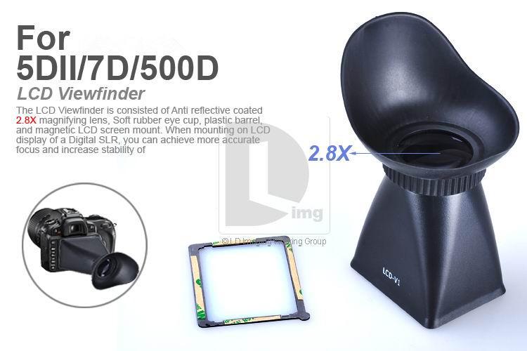 Аксессуары для фотостудий V1 LCD 2.8 x 5D 2 7D 500D PA010