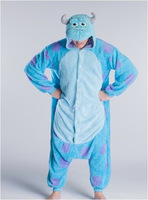New Adult Unisex High Quality Purple Dot Sulley Monsters Inc.Pajamas Onesie Jumpsuit Cosplay Costume Free Shipping