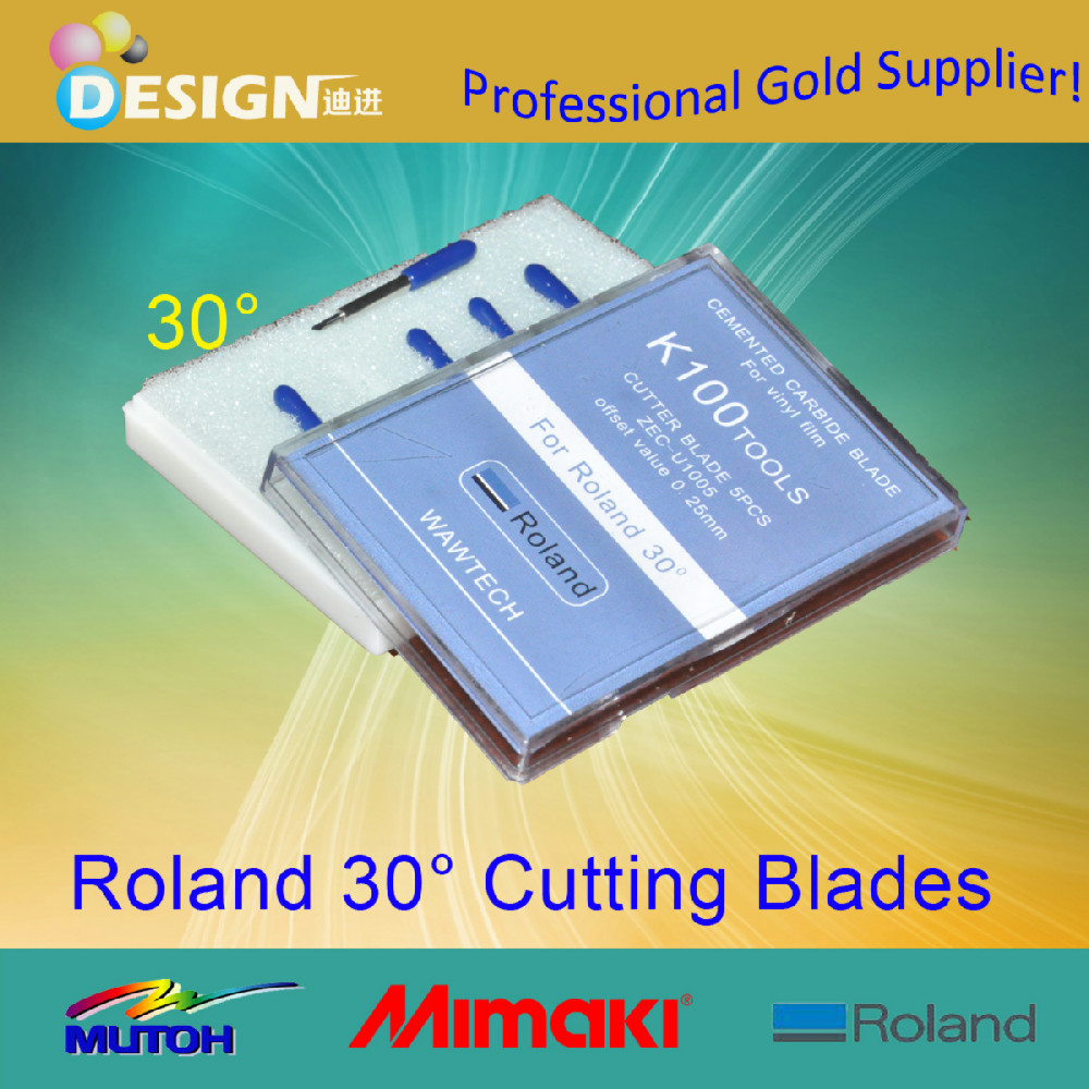 For Roland plotter 30pcs/lot 30 Degree blade cutter for printer(China (Mainland))