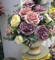 Modern artificial flowers, silk flower,artificial flower decoration, rich fashion rose decoration flower, countertop flower set