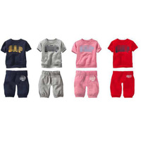 selling!retail cotton Toddlers children hoodies baby boys girls clothing sets autumn spring 2 pcs clothing set suit kids sets