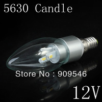 New 12v led candle bulb lamp lighting e14 e27 e12 for option warm white/cool white 2 years warranty