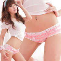 Sweet Polka Dot Pattern Lace Flower Decoration 5pcs/Lot 100% Cotton Girls' Cute Panties Female Fashion Briefs Women Underwear