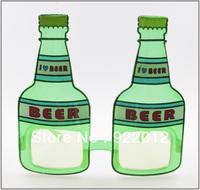 PT8001 Green Beer Bottle Shape Novelty Party Sunglasses Props Glasses Funny Glasses party sunglasses