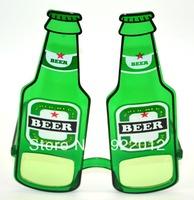 PT8002 Green Beer Bottle Shape Novelty Party Sunglasses Props Glasses Funny Glasses party sunglasses
