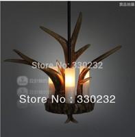 Dia 40cm Wholesale Retro resin antler pendant lights+free shipping suspension lighting Factory Price