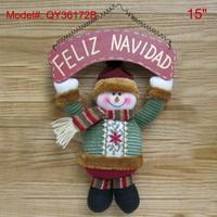 "15"" Christmas Home Decor Hanging Snowman Decoration Santa Tree Ornament Xmas Gifts Merry Christmas FELIZ NAVIDAD FREESHIPPING"