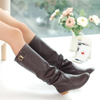 2013 hot sale winter woolen fashion lady snow boots sexy pink bleak brown white boots for women big size 34-43 WLY889