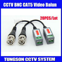 20pcs/lot Twisted BNC Video Balun Passive Transceivers UTP Balun BNC Cat5 CCTV UTP Video Balun up to 3000ft Range,Free shipping
