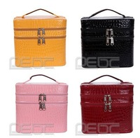 Free shipping# Women 2Tier Beauty Case Travel Makeup Large Cosmetic Toiletry Zipper Bag Handbag
