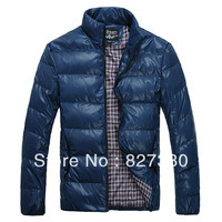 2013 men's clothing casual fashion stand collar design thin short down coat outerwear 1811
