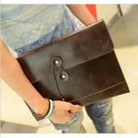 2013 male clutch envelope bag full PU man bag fashion day clutch briefcase