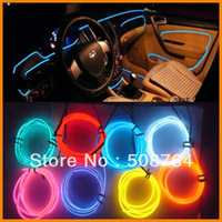 Free Shipping 10m Flexible Neon Glow Light EL Wire Rope 110V-220V Pin 10 Different Colors to Choose
