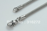 Topearl Jewelry 10pcs/LOT 19.5 Inch 316L Stainless Steel Mesh Necklace Chain 2.5mm MEN223