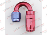 -8 AN AN -8 180 DEGREE SWIVEL OIL LINE fuel HOSE END FITTING ADAPTOR SHD-180D-8