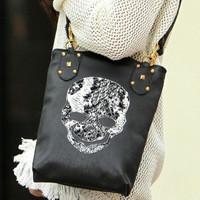 Free shipping, 2013 women's handbag spring bags female punk shoulder bag skull bag  shoulder bag