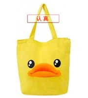 Free shipping, B . duck canvas handbag large bag duck bag duck one shoulder student school bag female  shoulder bag