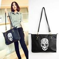 Free shipping, Horizontal 2012 skull snake bag rivet snake serpentine pattern bag skull cat bag women's handbag bag