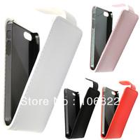 10pcs/lots Color Slim Premium Vertical Flip PU Leather Pouch Cover Case for Apple iPhone 5 DC1001 DropShipping