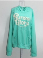 2013 New KoreanLovely Candy Colour Letter Pattern Hooded Coat Green HM11122418-1