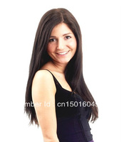24 Inch Clips On/In Remy Hair Extensions Synthetic  #2 Dark Brown Color Women's Long Straingt 120g