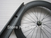 light 50mm front 88mm rear clincher carbon fiber bicycle wheels with powerway hub light weight