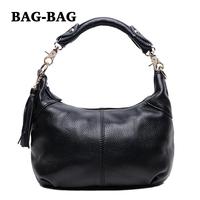 2014 NEW Autumn small Tassel HOBO GENUINE LEATHER women REAL cow's skin handbag/shoulder/crossbody bag Fashion girl B210