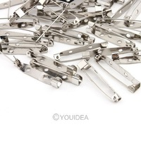 100Pcs Nickel Color Brooch Pin Safety Pins 30MM Connectors Hoops Clasps Metal Jewelery Findings Accessories