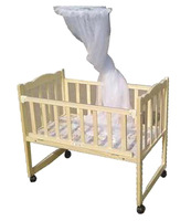 Mini baby cradle bed paint baby crib