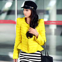 Free shipping Cloth hot-selling white duck down winter 2013 design o-neck short down coat female slim