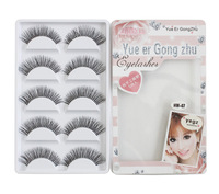 New 2013 High Quality 5 Pairs Brand Eyelash Extension Eye Lashes Voluminous Professional Makeup False Eyelashes--HW-07