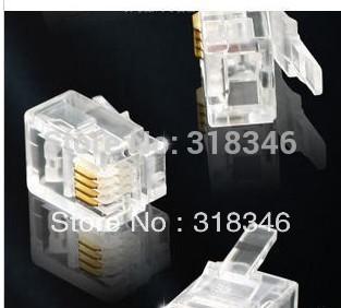 Потребительские товары Nev brand 100pcs/lot RJ11 6P4C потребительские товары peaceful taste call rj9 rj11 ptx 3180mrjt