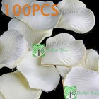 Free shipping: 100 X Silk Rose Petals Wedding Flowers Decor White #1 wholesale(China (Mainland))
