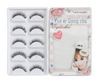 New 2013 High Quality 5 Pairs Brand Eyelash Extension Black Terrier Eye Lashes Professional Makeup False Eyelashes--HW-13