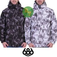 686 high quality skull full-body ski suit skiing clothing
