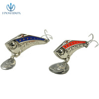 No.1 Quality&service 15g Metal Lure fishing tackle Fishing Lure Spoon Metal Lures for Fishing hard bait