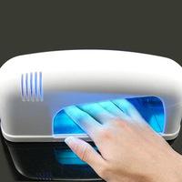 Free shipping 9W White Nail Art UV Gel Curing Lamp Dryer Light EU PLUG 8272
