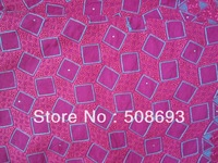 Free Shipping african lace fabric. NEW design French LACE,fushia pink  color good quality emboridery cotton fabric