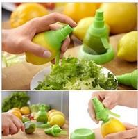 Free shipping 1pairs/lot100%BPA creative gifts fruit spray tool juice juicer lemon sprayer fruit squeezer kitchen tools