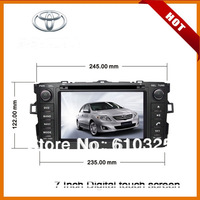 7 Inch Car Radio/Audio/DVD Player With GPS For TOYOTA AURIS/AXIO/ALTIS/COROLLA AXIO/COROLLA HATCHBACK  Retail/Pcs+Free Shipping!