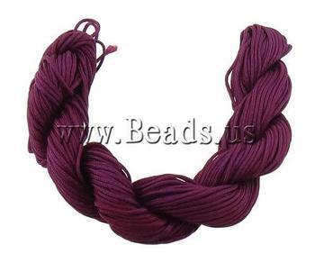 Free shipping!!!Nylon Cord,innovative, purplish red, 1mm, 300Yards/Bag, Sold By Bag