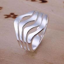 R123 Size:8 Wholesale 925 silver ring, 925 silver fashion jewelry, Water Waves Ring /bfiajwpasn(China (Mainland))
