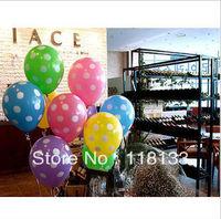 "Promotional toys - 12"" Polka Dots Printing Balloons,Balloon Wedding, Birthday Decorations, Mixed Colors"