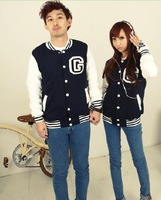 2013 Men's Free Shipping casual Single Breasted Button Couple Coat Dark Blue BX11090312
