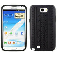 Tyre Texture Silicon Case for Samsung Galaxy Note II / N7100 , free shipping!